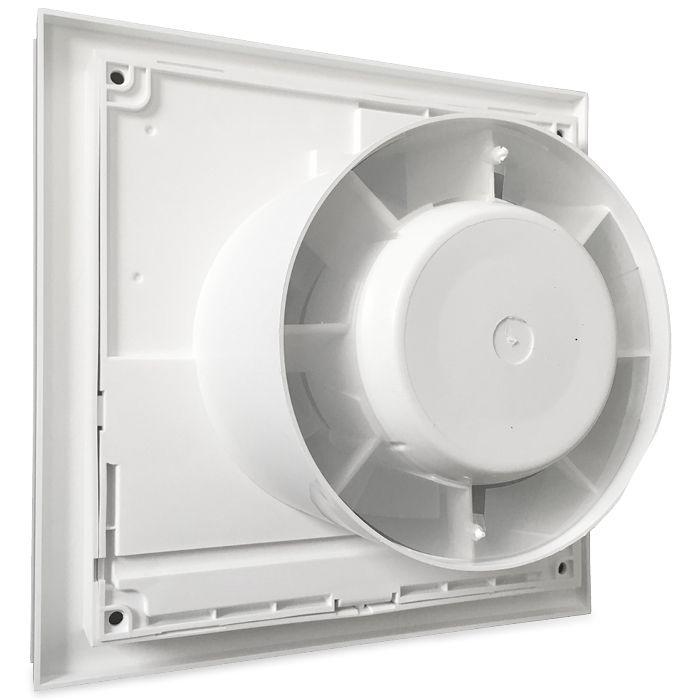 Design badkamerventilator Soler & Palau Silent (200CHZ) Ø 120mm MET TIMER + VOCHTSENSOR (zilver)