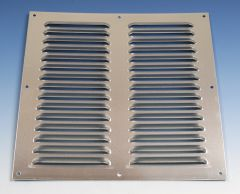Aluminium schoepenrooster opbouw 300 x 300mm - ALU (1-3030A)