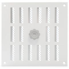 Aluminium afsluitbaar schuifrooster opbouw 195 x 195mm - WIT (3-2020W)