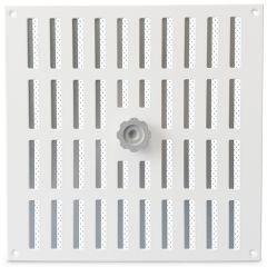 Aluminium afsluitbaar schuifrooster opbouw 300 x 300mm - WIT (3-3030W)