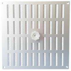 Aluminium afsluitbaar schuifrooster opbouw 300 x 300mm - ALU (3-3030AA)