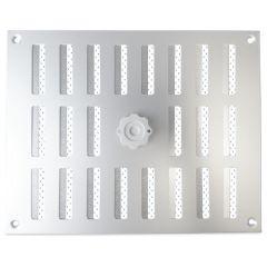 Aluminium afsluitbaar schuifrooster opbouw 245 x 195mm - ALU (3-2520AA)