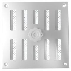 Aluminium afsluitbaar schuifrooster opbouw 155 x 155mm - ALU (3-1616AA)