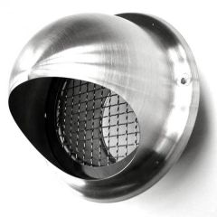Bolrooster RVS Ø 150mm met grofmazig gaas - hoge doorlaat