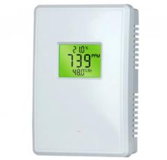 CO2 meter met ventilator aansturing op CO2 waarde aan/uit - 230V - incl. temperatuurmeter