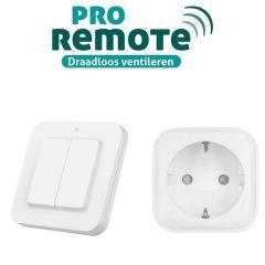Installatieset voor draadloze bediening van ventilatoren - zender met timerfunctie