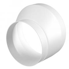 Kunststof verloopstuk van Ø 125mm naar Ø 100mm - asymmetrisch