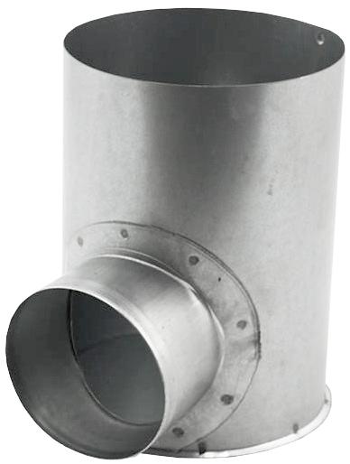 Instortpot Ø125mm Met Dichte Onderkant, Zij-aanslu
