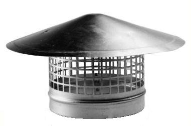 Regenhoed Ø 125mm Met Gaas