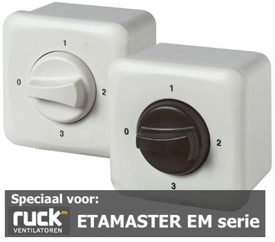 Regelaar 3 standen voor EM serie RUCK