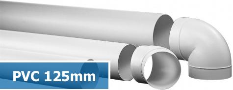 PVC kanalen en hulpstukken ventilatie 125mm