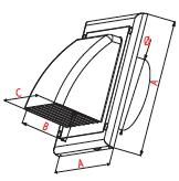 Gevelkap-kunststof wit voor ventilatie