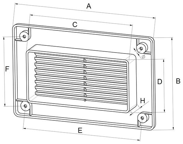 Kunststof gevelklep afmetingen - Ventilatieshop