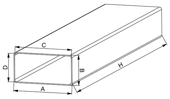 Kunststof kanaal afmetingen - Ventilatieshop
