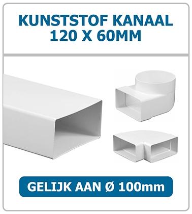 Ventilatiebuis 120 x 60mm kunststof Ventilatieshop