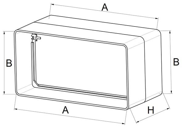 Kunststof terugslagklep afmetingen - Ventilatieshop