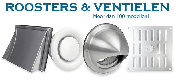 Ventilatieroosters en ventielen