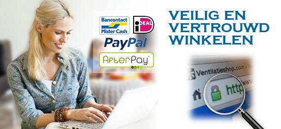 Veilig en vertrouwd winkelen bij Ventilatieshop.com