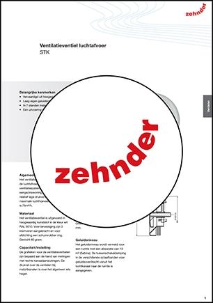 STK Zehnder/Stork kunststof rond ventiel