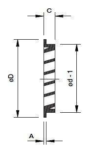 Aluminium buitenluchtrooster rond afmetingen