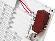 badkamerventilator met automatische lamellen