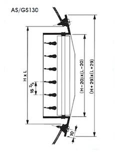 Buisroosters voor spirobuis toevoer en afvoer afmetingen
