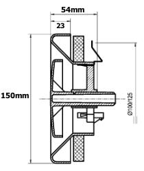Stork STK ventilatieventielen 100mm-125mm afmetingen