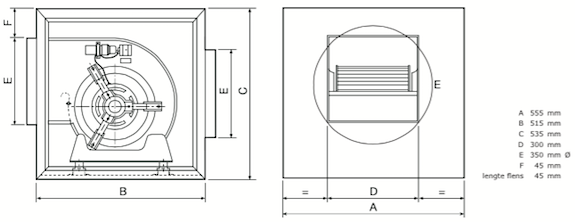 Chaysol Airbox compacta 9/9 afmetingen