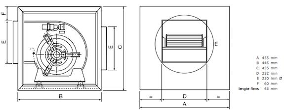 Chaysol Airbox compacta 7/7 afmetingen
