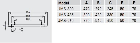 JMS montageframe afmetingen Soler & Palau
