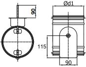regelklep met motorstoel voor montage servomotor