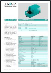 Joventa servomotor open/dicht voor ventilatie regelklep