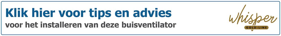 Tips en advies voor aansluiten van S&P buisventilator