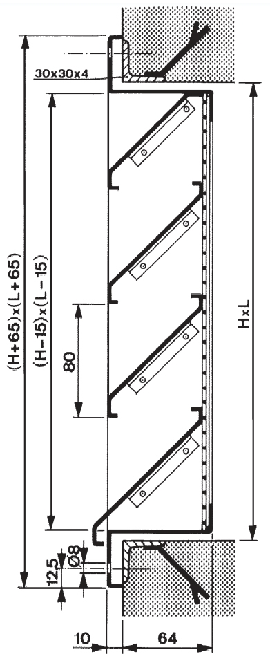 Tekening GA801 rooster