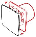 Design ventilator met verwisselbare fronts