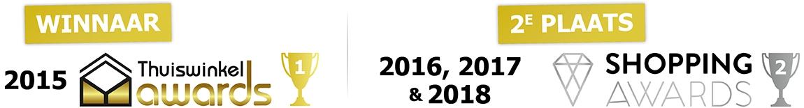 Winnaar Thuiswinkel awards in de categorie Klussen & Doe-het-zelf