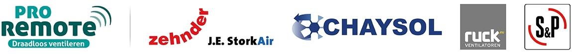 Regelaars en accessiores voor ventilatoren van oa S&P, Ruck, Zehnder/Stork en Chaysol