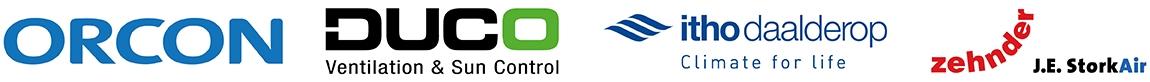 Woonhuisventilatoren van Itho, Orcon, Duco, Zehnder/Stork en S&P