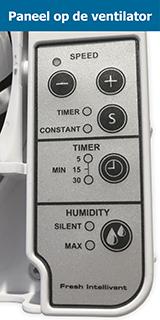 Bediening Intellivent 2.0 badkamerventilator