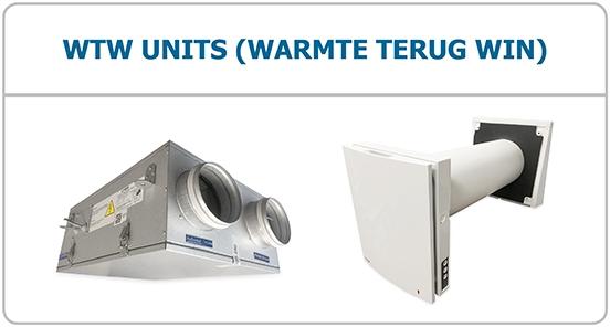 WTW units warmte terugwin