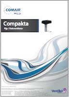Compacta Comair pijp/dak ventilator