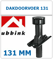 Ubbink 131 dakdoorvoer aansluit maat 125mm voor ventilatie
