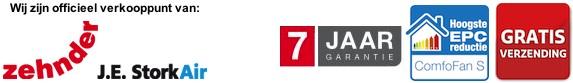 Stork Comfofan S woonhuisventilator 7 jaar garantie en gratis verzending