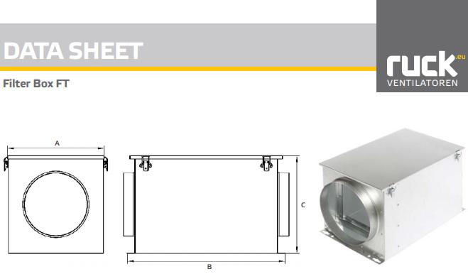 Ruck Filterbox FT160 documentatie - Ventilatieshop