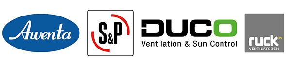 Ventilatoren voor badkamer, toilet, woonhuis en andere ruimtes van S&P, Stork en Ruck